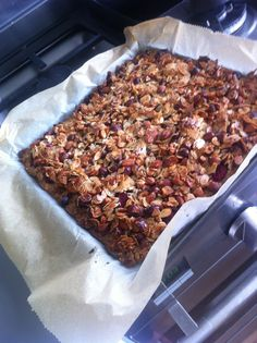Mega granola bar-cooky... Ottolenghi style with What was available in my cupboard!