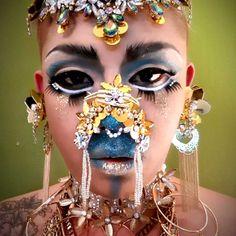 Carnival, Halloween Face Makeup, Asian, Queen, Painting, Carnavals, Painting Art, Paintings, Painted Canvas