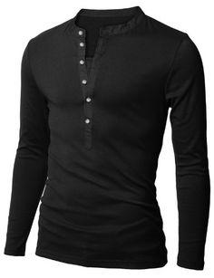 Doublju Mens Henley Neck Long Sleeve T-shirts BLACK (US-S) Doublju,http://www.amazon.com/dp/B00GA9FCVC/ref=cm_sw_r_pi_dp_gM9dtb0AHE0Y1D7M