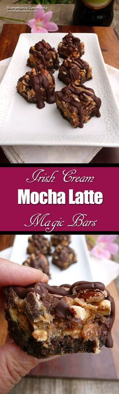 Irish Cream Mocha Latte Magic Bars ~ Sumptuous Spoonfuls #easy #decadent #dessert #recipe