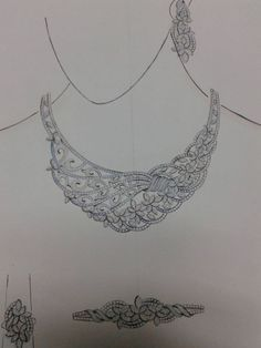 African Jewelry, Indian Jewelry, Necklace Designs, Ring Designs, Diamond Jewelry, Diamond Bangle, Jewelry Design Drawing, Floral Embroidery Patterns, Terracotta Jewellery