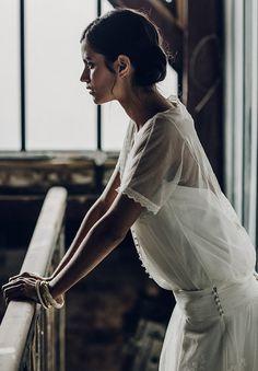 LAURE DE SAGAZAN 2016 COLLECTION - bridal fashion - wedding - separates - white - lace - French design - bride - gown