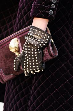 Those gloves; Burberry, Fall 2012.
