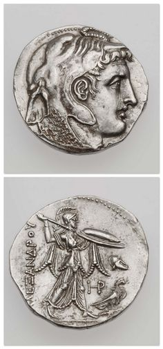 Tetradrachm of Kingdom of Egypt with head of deified Alexander the Great, struck under Ptolemy I, minted in Alexandria, Egypt, 315-300 B.C. | Museum of Fine Arts, Boston