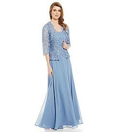 Emma Street Lace Chiffon Jacket Dress #Dillards