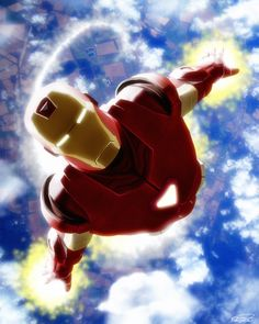 Iron Man by Daniel Scott Gabriel Murray via DeviantArt  Another for the Hubby!