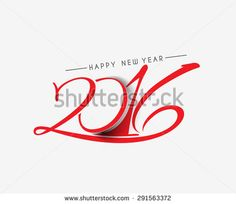 Happy new year 2016 Text Design - stock vector Happy New Year 2016, New Years 2016, Text Design, Royalty Free Stock Photos, Illustration, Pictures, Image, Photos, Illustrations