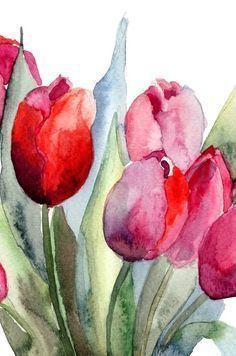 Flower Painting   www.wallartprints.com.au #WatercolourPainting
