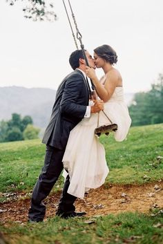 30 Most Creative Wedding Kiss Photos ❤ See more: http://www.weddingforward.com/10-most-creative-wedding-kiss-photos/ #weddings