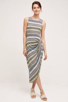 NWT ANTHROPOLOGIE GATHERED STRIPES MIDI DRESS by BAILEY 44 XS #Bailey44 #MidiAsymmetricalHemStretchBodycon #Casual