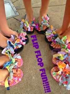 DIY Flip Flop Tutorial For Kids #DIY #Flipflops