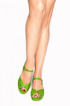 BAIT Kiki Wedge in Green