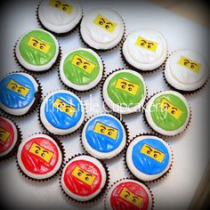 Gonna be making these for a little boy soon - Ninjago Cupcakes