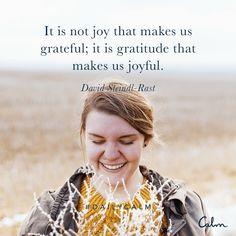 Joy and Gratitude