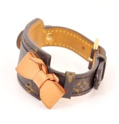 #Louis #Vuitton Monogram Canvas Leather Bangle Bracelet