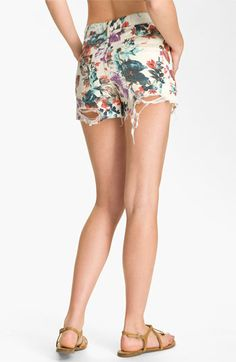 Free People Floral Denim Cutoff Shorts-- a little too short but i love the print