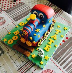 A train birthday cake