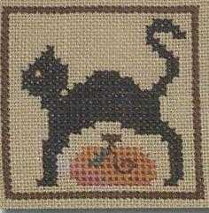 Halloween Markings: Spooky Cat - Cross Stitch Pattern  by Heart In Hand Needleart