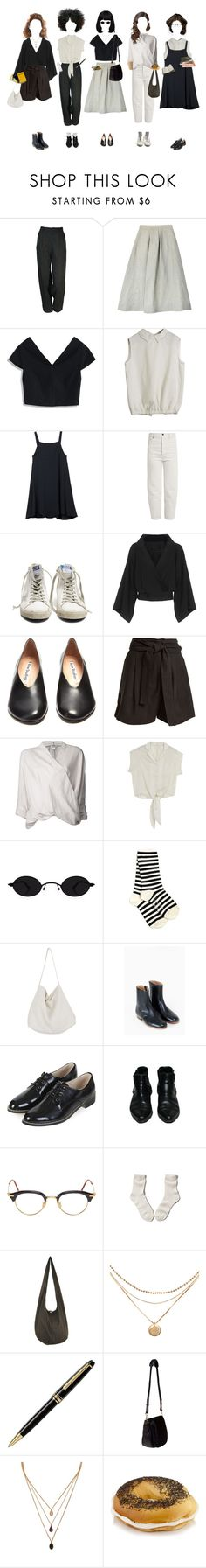 """""""Back To College They Go"""" by silentmoonchild ❤ liked on Polyvore featuring Samuji, Chicwish, RVCA, Vetements, Golden Goose, Plein Sud, Acne Studios, Apiece Apart, Helmut Lang and Yohji Yamamoto"""