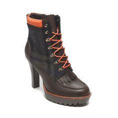 Lace up heel boot