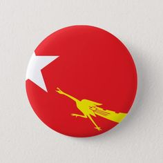 Flag of National League for Democracy Pinback Button Flying Kiss Gif, National League For Democracy, How To Make Buttons, Wedding Invitation Wording, National Flag, Gifts For Dad, Flags, Art For Kids, Wedding Gifts