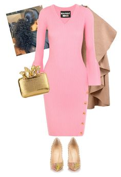 """I Wear Pink for Survivors!!!"" by cogic-fashion on Polyvore featuring Boutique Moschino, Christian Louboutin and Nancy Gonzalez"
