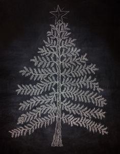 My Christmas Tree: Chalkboard Wall