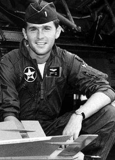 Today we wish our - George W. Bush - a very happy birthday! George W. Bush in the Texas Air National Guard, Ronald Reagan, American Presidents, American History, Presidents Usa, American Veterans, Georg Bush, Joe Biden, Barack Obama, Simone Veil