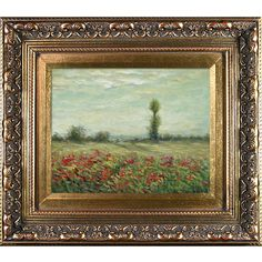 The Fields of Poppies by Monet Framed Hand Painted Oil on Canvas | Wayfair