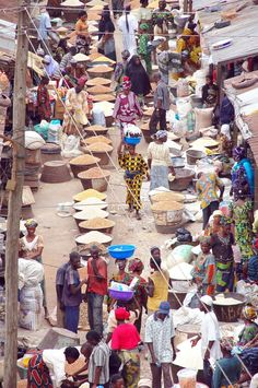 A market in Nigeria... not the wuse market....