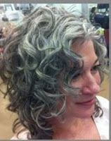 Curly grey hair for mom Curly Hair Ponytail, Grey Curly Hair, Ponytail Hairstyles, Hair Dos, Gray Hairstyles, Grey White Hair, Silver Grey Hair, Medium Hair Styles, Curly Hair Styles