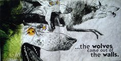 The wolves in the walls. Story by Neil Gaiman, art by Dave Mckean.  I wish I'd read this book as a kid.