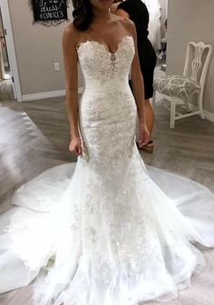 Love this Wedding Strapless Dresses Trendy 2019 Mermaid Lace Wedding Dress Long Sleeves, Bridal Gown ,Dresses For Brides Wedding Dress Tight, Sexy Wedding Dresses, Princess Wedding Dresses, Boho Wedding Dress, Trendy Dresses, Sexy Dresses, Wedding Gowns, Mermaid Wedding Dress Bling, Elegant Dresses