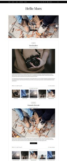 Blogger Template - Hello Mars by Vefio Themes #ad #blogerwebsite Website Design Inspiration, Website Design Layout, Web Design, Design Ideas, Hello Mars, Photography Website Templates, One Page Website, Handmade Gifts, Hand Made