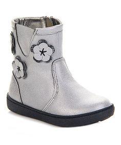 Another great find on #zulily! Silver Flower Boot #zulilyfinds
