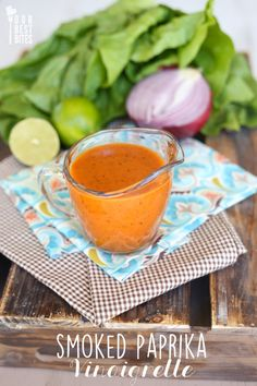 Smoked Paprika Vinaigrette - Our Best Bites *I used avocado oil instead of bacon oil Salad Dressing Recipes, Salad Recipes, Salad Dressings, Vinaigrette Dressing, Salad Bar, Soup And Salad, Quinoa Salad, Paprika Recipes, Paprika Sauce