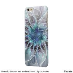 Flourish, abstract and modern Fractal Art Glossy iPhone 6 Plus Case
