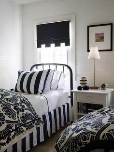 White and Black Bedroom Scheme Creating Teenage Bedroom Ideas