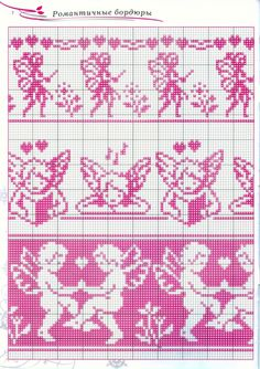 Found on irisha-ira. Cross Stitch Fairy, Cross Stitch Angels, Cross Stitch Bookmarks, Simple Cross Stitch, Beaded Cross Stitch, Cross Stitch Borders, Cross Stitching, Cross Stitch Embroidery, Cross Stitch Patterns