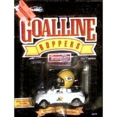 Green Bay Packers 1996 Ertl Diecast Car Goalline Bopper Bobblehead Driver NFL Football Team Collectible by NFL  $19.29
