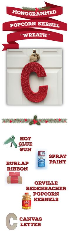 6 holiday decorations that really pop | easy DIY popcorn decorations | popcorn kernel wreath