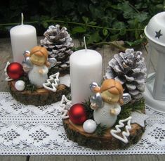 Simple And Popular Christmas Decorations; Christmas Decor DIY crafts how to make Simple And Popular Christmas Decorations Diy Snowman Decorations, Christmas Candle Decorations, Winter Centerpieces, Christmas Candles, Centerpiece Decorations, Diy Decoration, Homemade Decorations, Decor Ideas, Christmas Colors