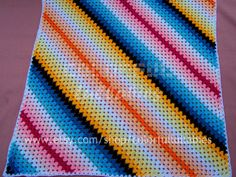 Crochet stripe blanket
