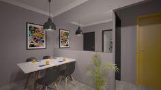Projeto de Interiores - Apartamento S&A Sala de Jantar