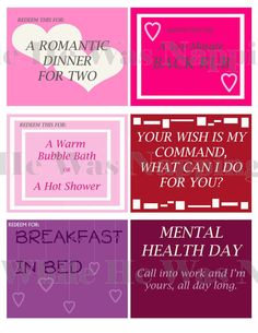 MATURE Sexy Printable Valentine's Day Coupon by DearHenryDesign ...