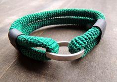 zsazsazsu: Some more combinations - Silk crochet, rubber (bike tyre) and a matte latch.