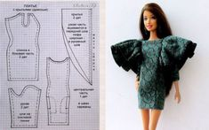 Sewing Barbie Clothes, Barbie Sewing Patterns, Sewing Dolls, Doll Clothes Patterns, Clothing Patterns, Diy Clothes, Mattel Barbie, Barbie Dress, Barbie And Ken
