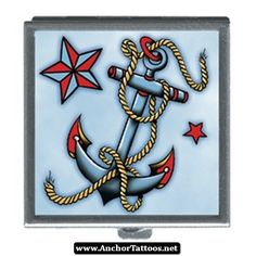 Nautical Star And Anchor Tattoo 03 - http://anchortattoos.net/nautical-star-and-anchor-tattoo-03/