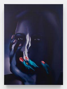 Louisa Gagliardi, Charlotte, 2015, ink, nail polish on vinyl, 172,5 x 115 cm  http://www.louisagagliardi.com/ http://www.tomorrowgallery.info/