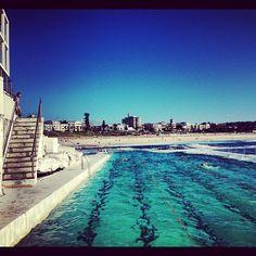 Entered by @asherbatch (Asher Batch) in the Hooroo Best Holiday Snaps competition. #nlhoorooholiday #earlymorning #swim #bondi #sydney #icebergs #iconic #bucketlist